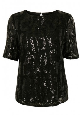 B Young Black seq top WAS £59.00 NOW