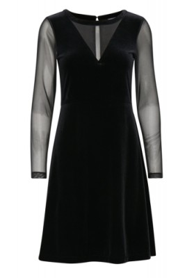 B Young Plain Black velvet WAS £49.00