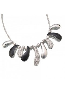 12SL Black/Silver necklace set