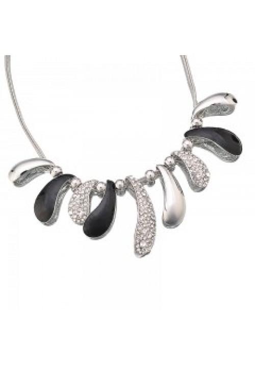 12SL Black/Silver necklace set