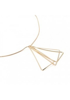 05RG Triangle long necklace